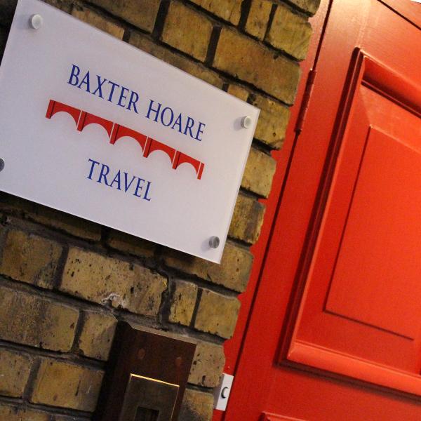 Baxter Hoare Travel Signage